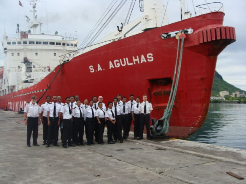 All aboard: The SA Agulhas is in Port Louis today and will set sail tomorrow for South Africa.