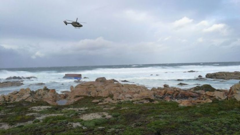 SAAF 15 Squadron Charlie Flight BK-117 helicopter searching for survivors