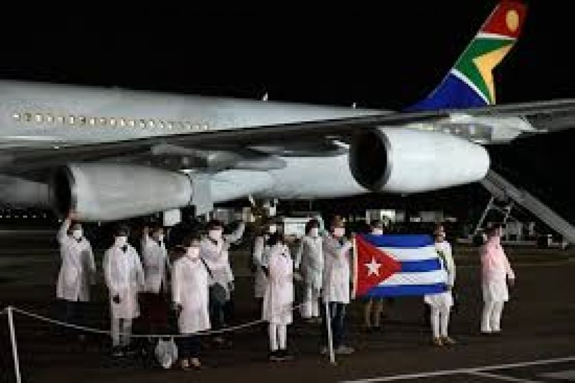 Over 200 Cuban doctors arrive in South Africa to help fight COVID-19.