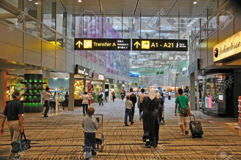 Voted the best airport, Changi in Singapore