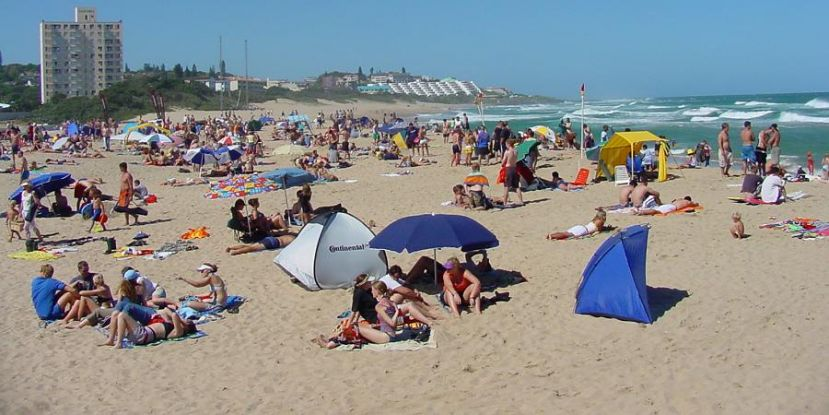 Margate Beach on the South Coast of KwaZulu-Natal