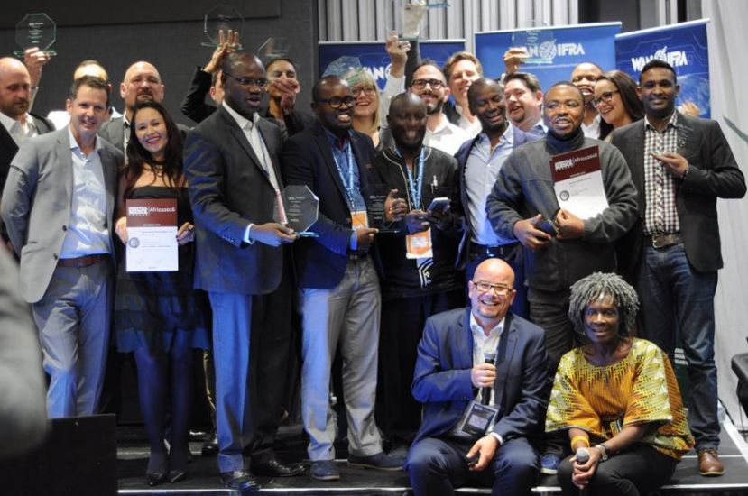 Winners of the Digital Media Awards in  Johannesburg, South Africa
