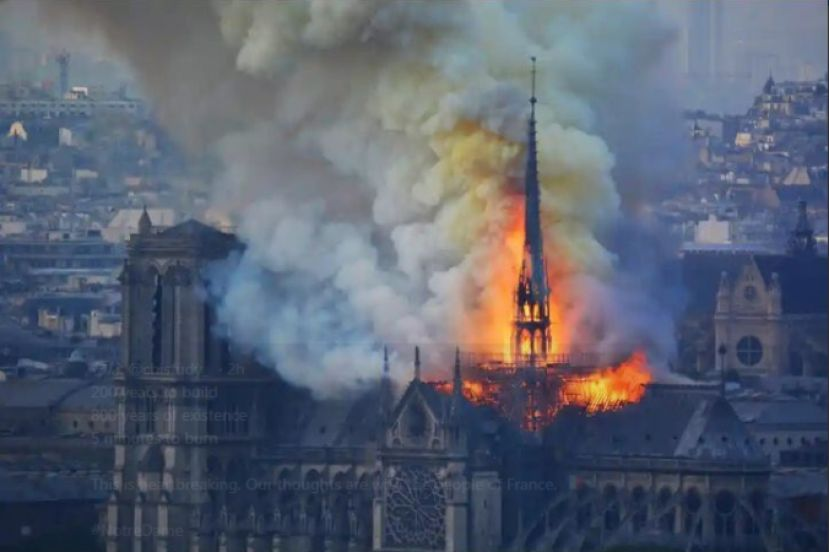 The renowned Notre Dame Cathedral in Paris was engulfed in flames on Monday (April 15, 2019).