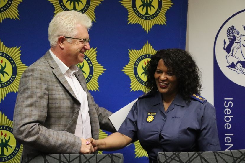 Premier Winde congratulates Lieutenant General Matakata on her appointment.
