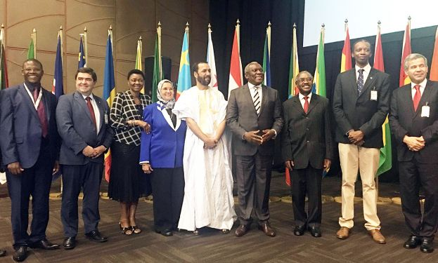 Minister of Telecommunications and Postal Services Dr Siyabonga Cwele accompanied by high level delegation at African Internet Governance conference